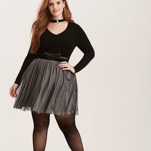 NWT Torrid Shimmer Tulle Challis Mini Skirt Sz 2